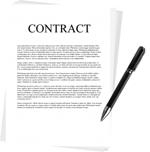 Contract business documents logo