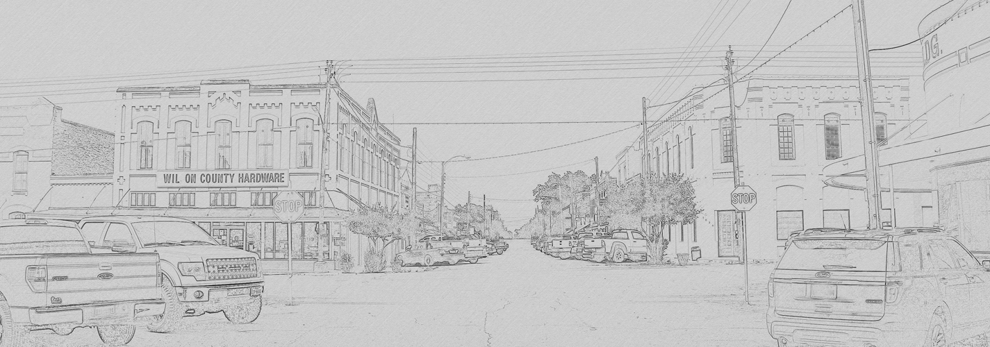 Floresville, TX downtown sketch image