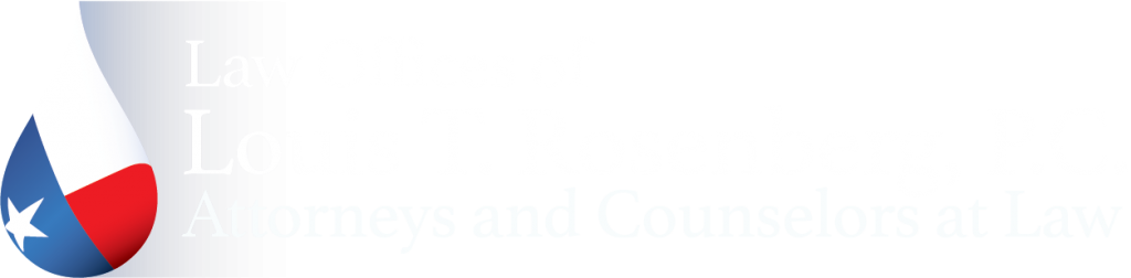 Law offices of Louis T Rosenberg logo / white